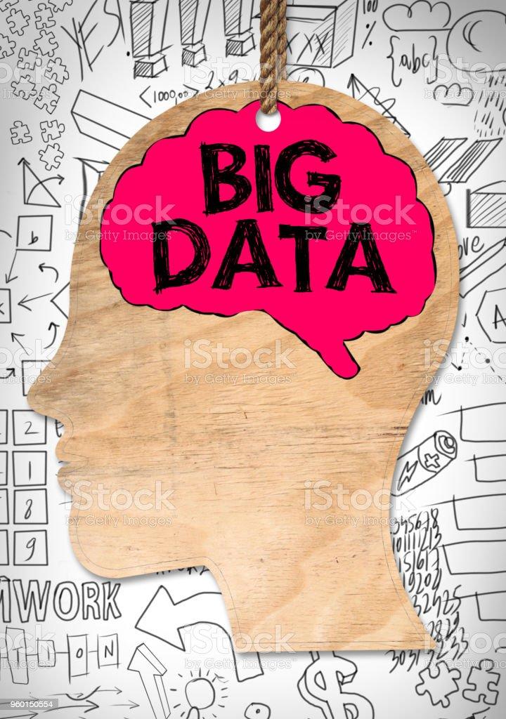 BIG DATA / White board concept (Click for more) stock photo