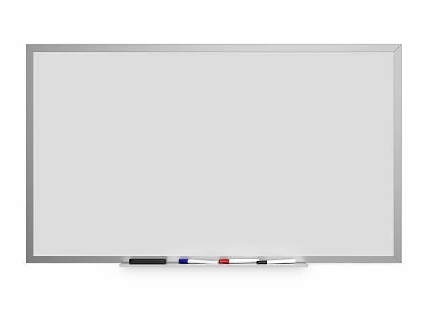 Quadro branco isolado em um fundo branco - foto de acervo