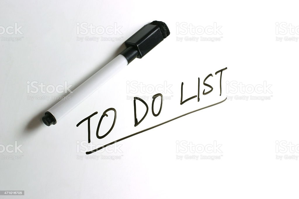 White Board - To Do List royalty-free stock photo