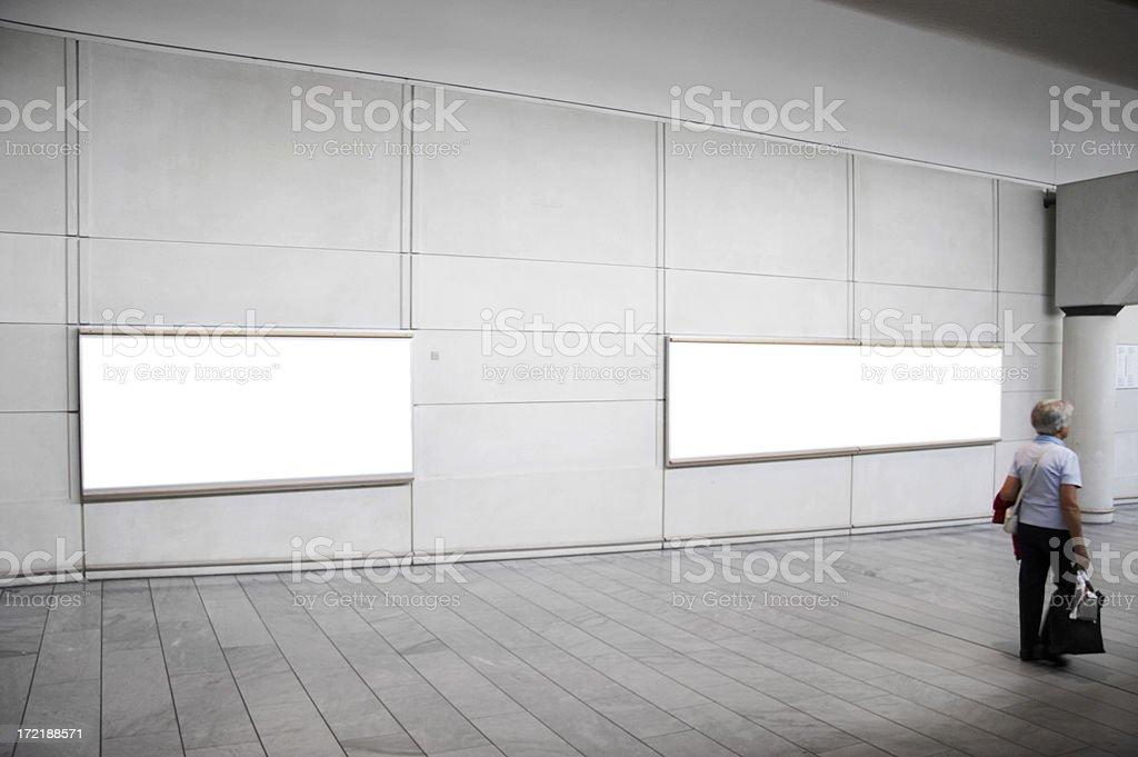 White boards stock photo