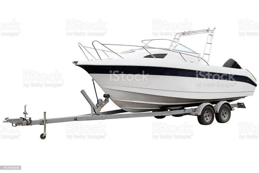 White boat. stock photo