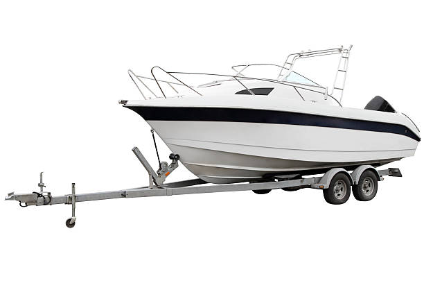 White boat. stock photo