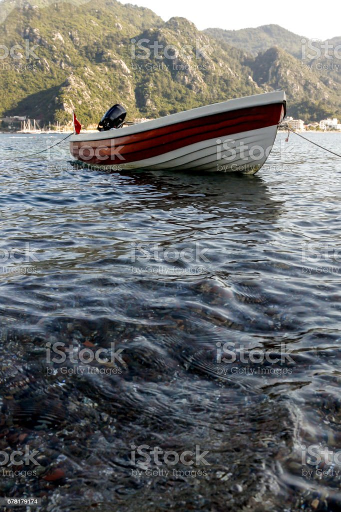 white boat stock photo
