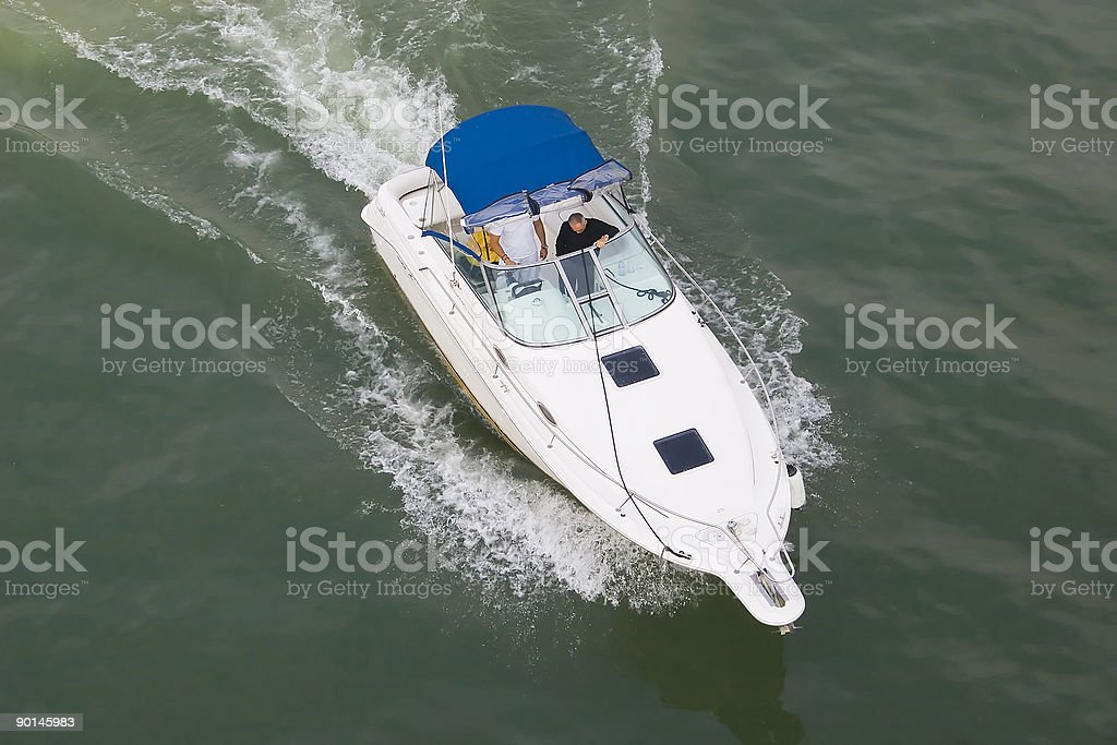 White boat royalty-free stock photo