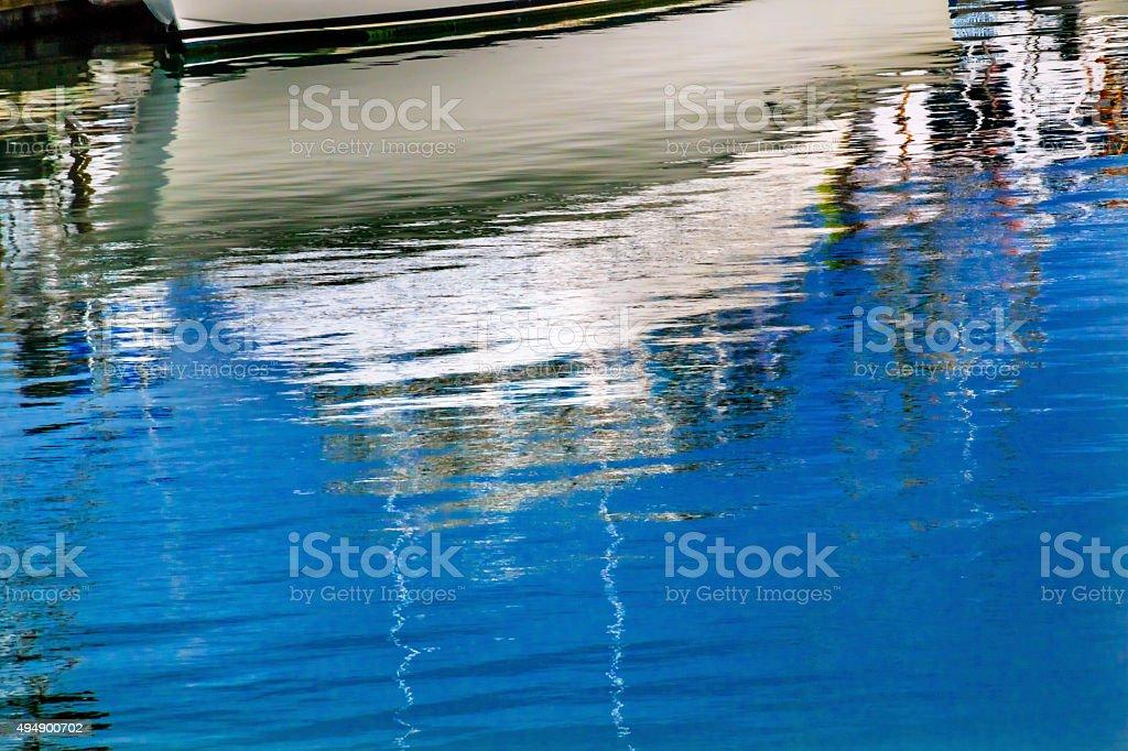 White Boat Reflection Westport Grays Harbor Washington State
