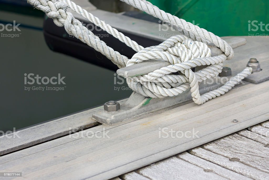 White boating knot stock photo