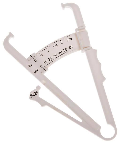 White body fat caliper stock photo