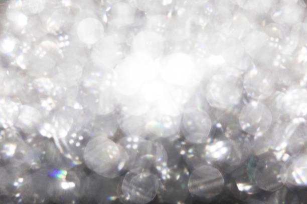 White Bokeh Light Texture Background stock photo