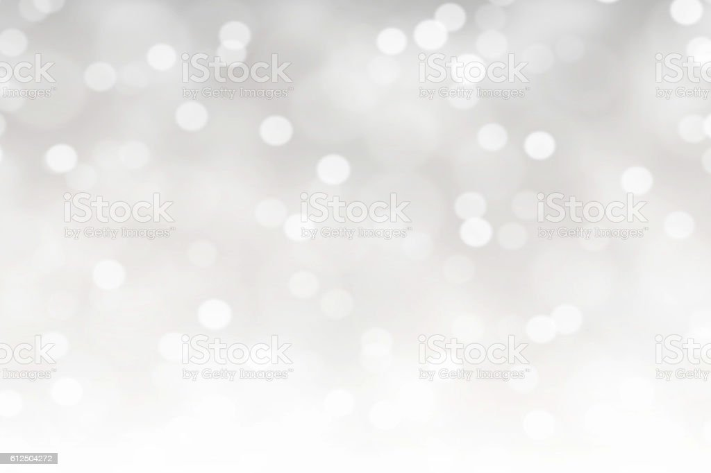 White Bokeh Lights Abstract Background stock photo