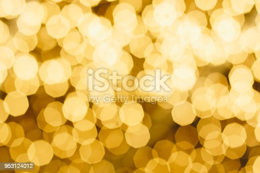 istock White Bokeh placed on Yellow Background 953124012
