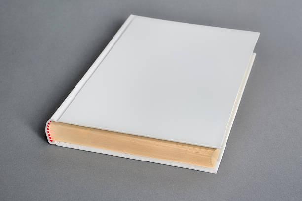 white book mockup on gray background - planner inserts stock-fotos und bilder