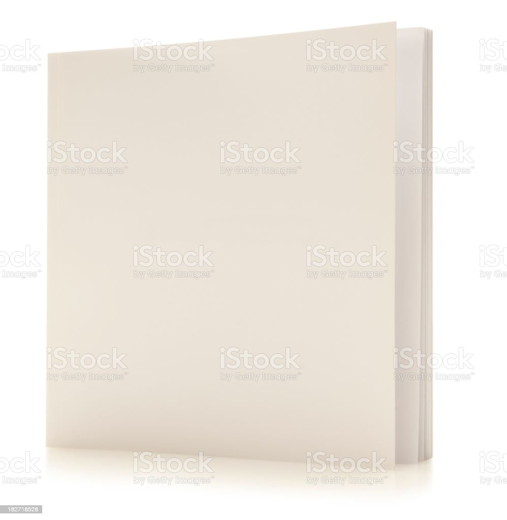 White Book with path royalty-free stock photo