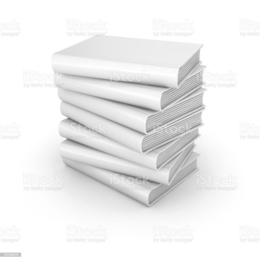 White Books royalty-free stock photo