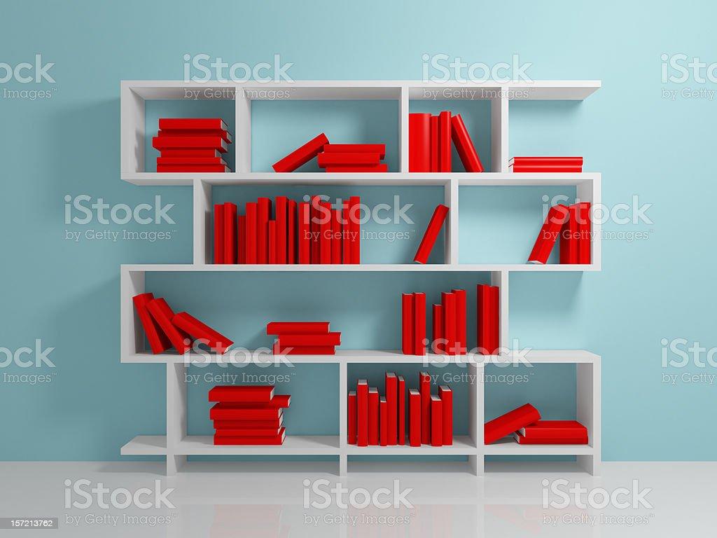 White bookshelf royalty-free stock photo