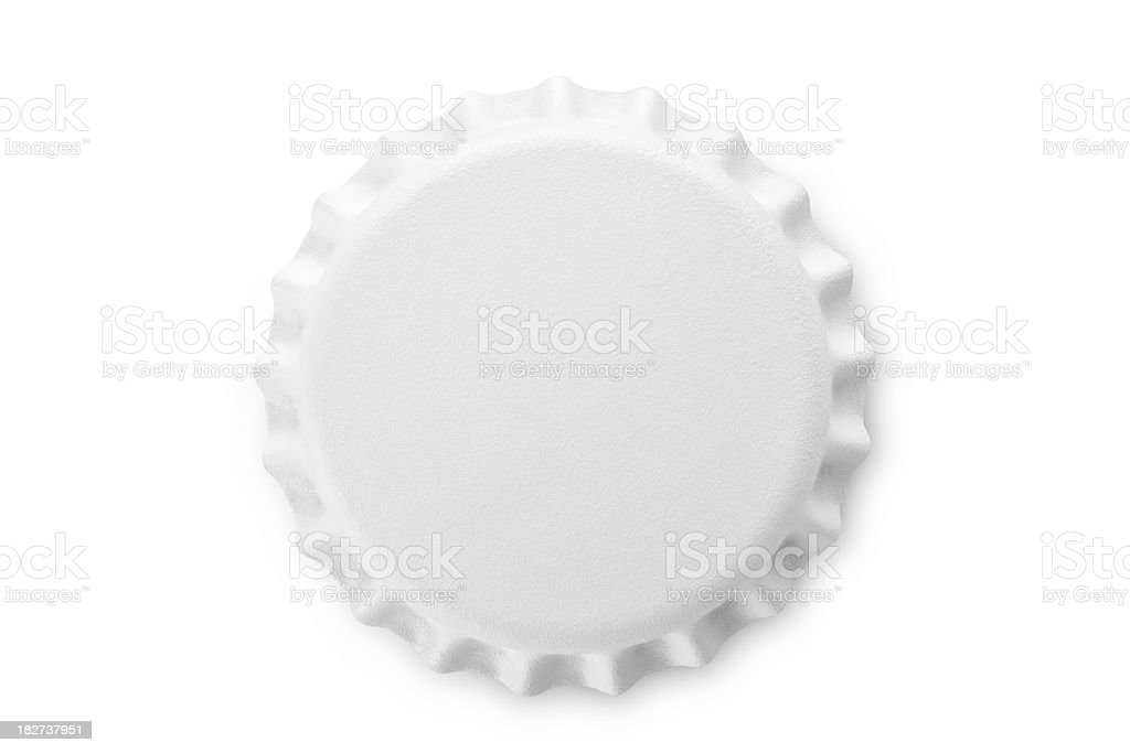 White bottle cap stock photo