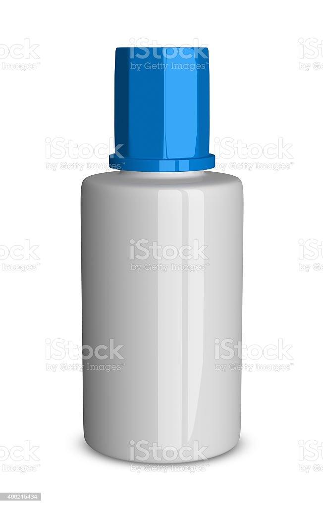 White bottle isolated stock photo