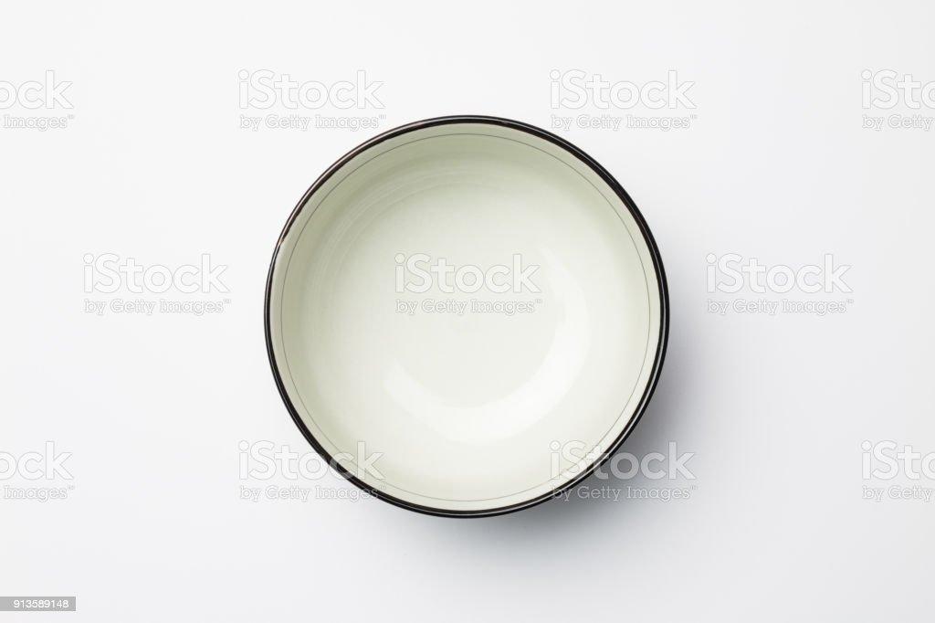 Weiße Schüssel auf Weißer Hintergrund – Foto