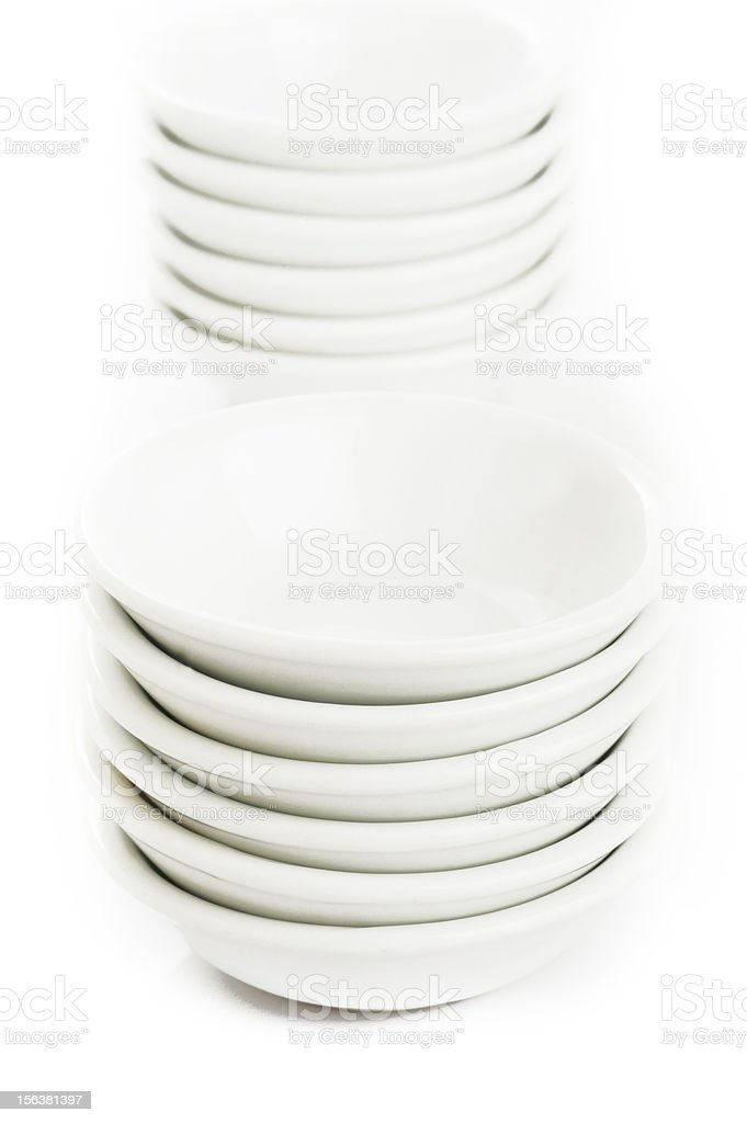 White bowl royalty-free stock photo