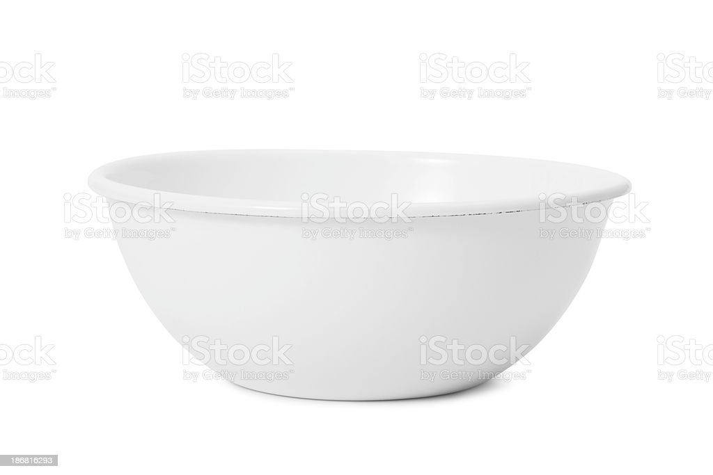 White bowl stock photo