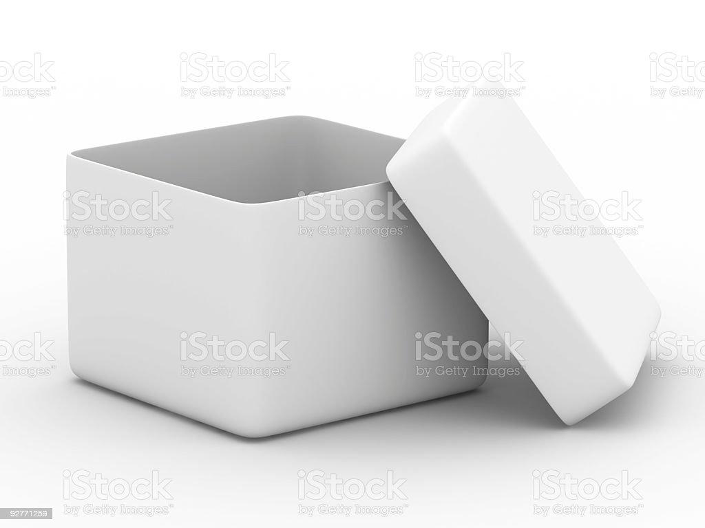 White box. 3D image. royalty-free stock photo