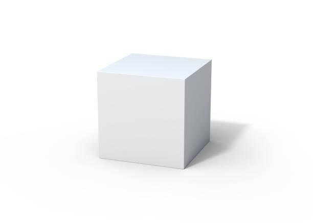 white box 3d rendering - cubo foto e immagini stock