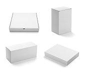 白のボックスコンテイナーテンプレート空白のパッケージ