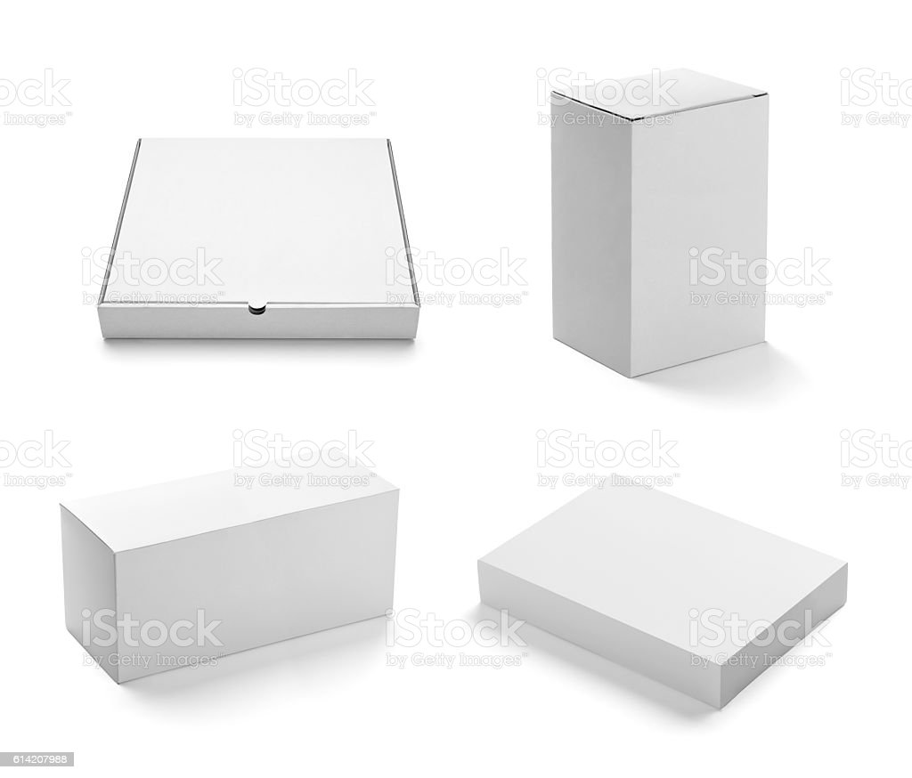 white box container template blank package stok fotoğrafı