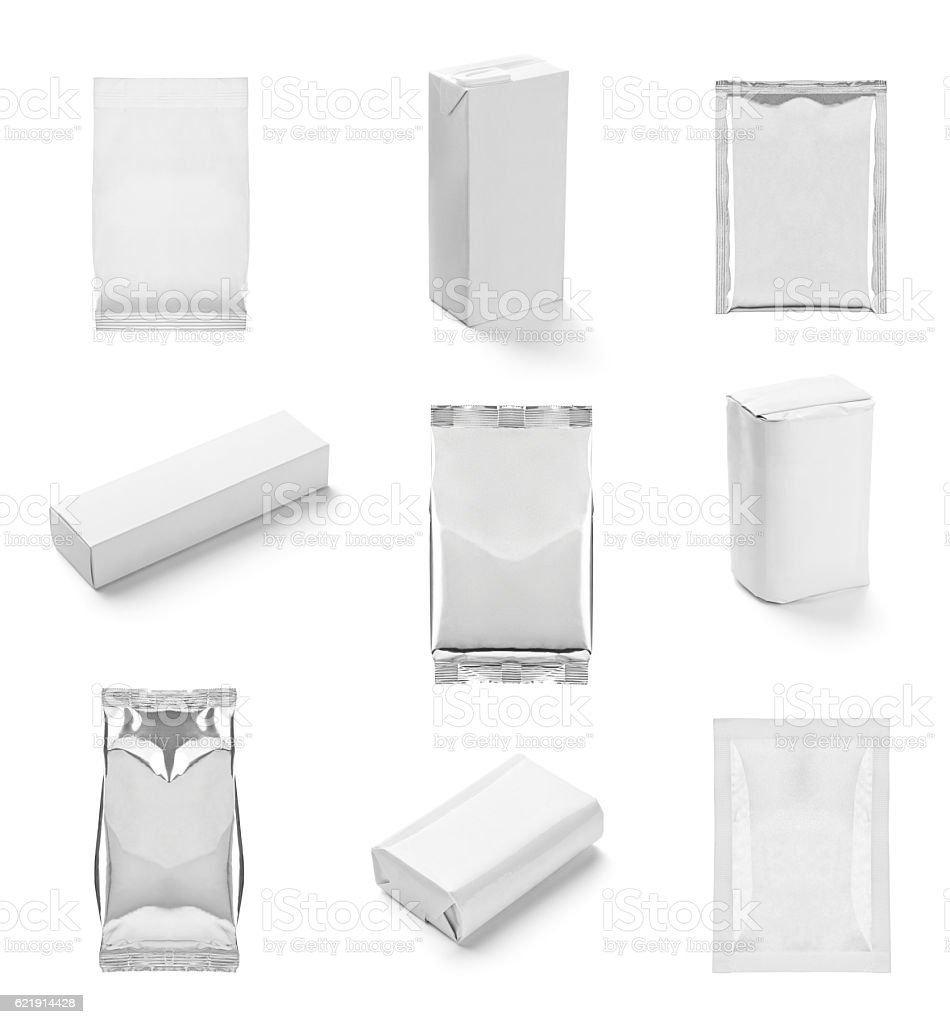 white box container template blank package stock photo