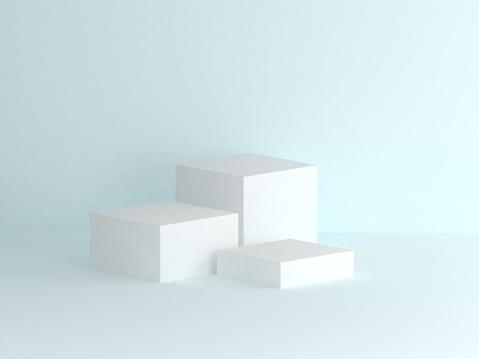 white box podium