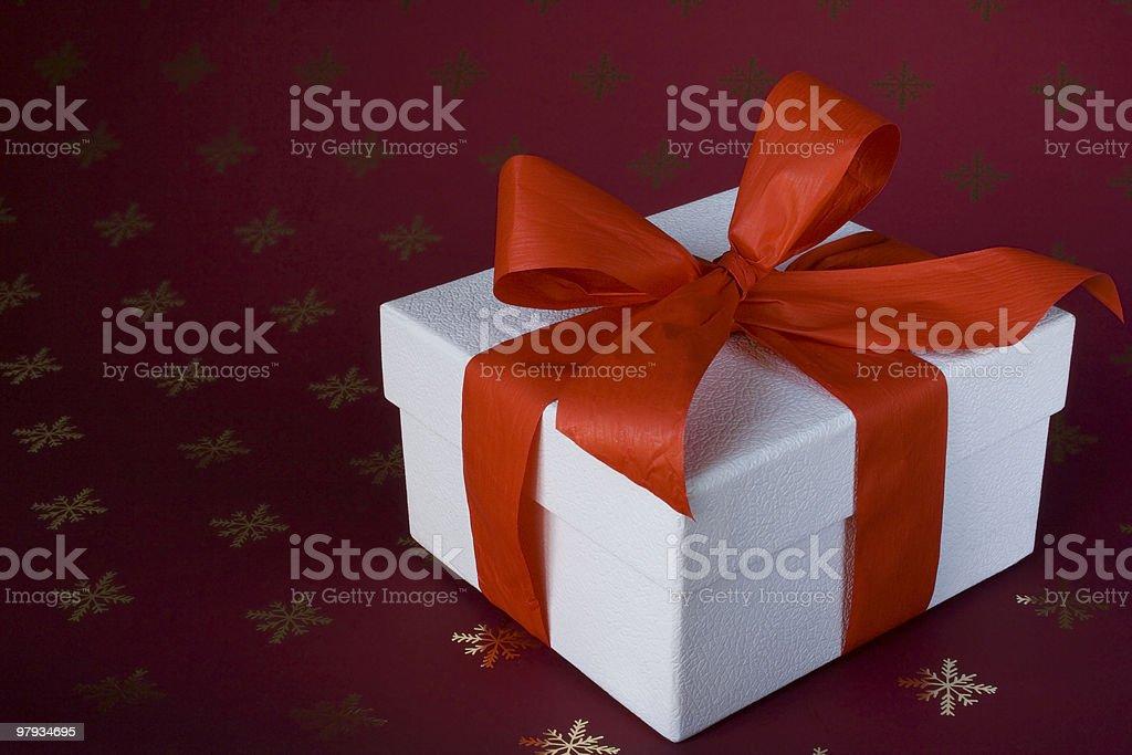 White box present royalty-free stock photo