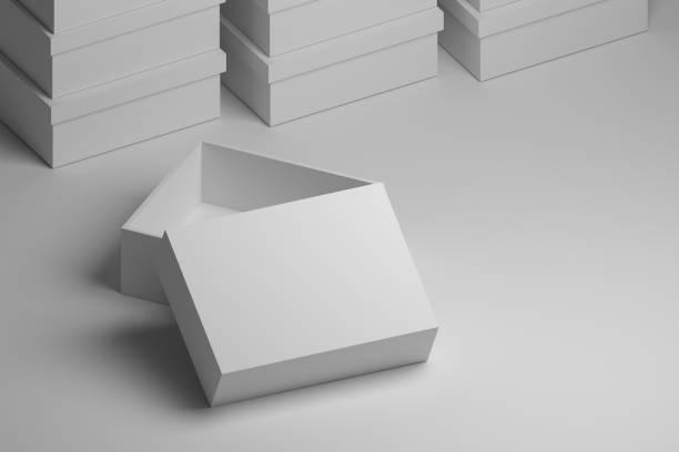 White boxes for presentation stock photo