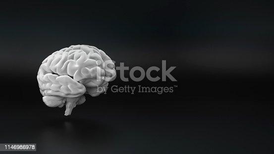 istock white brain on the black background 1146986978