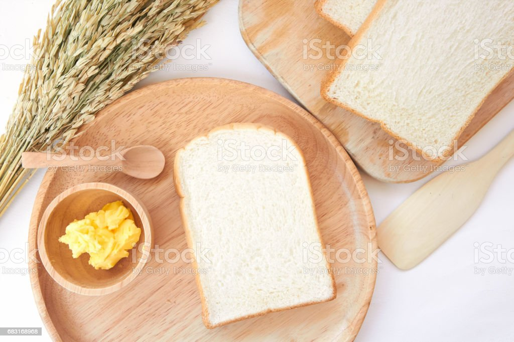 White bread and butter 免版稅 stock photo