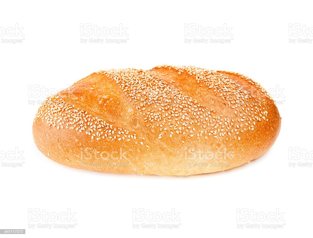 White bread isolated on white stock photo