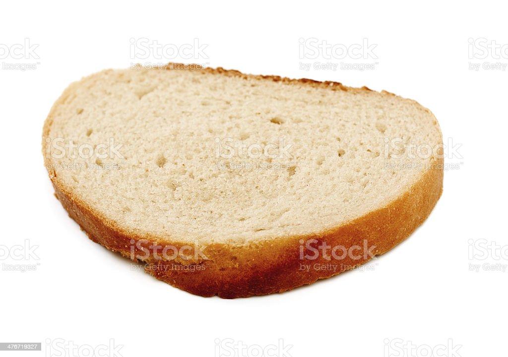 White Bread Slice royalty-free stock photo