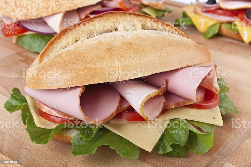 white bread stuffed sandwiches royalty-free stock photo