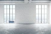 White brick room front