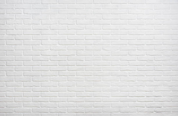 white brick wall background photo - wall foto e immagini stock
