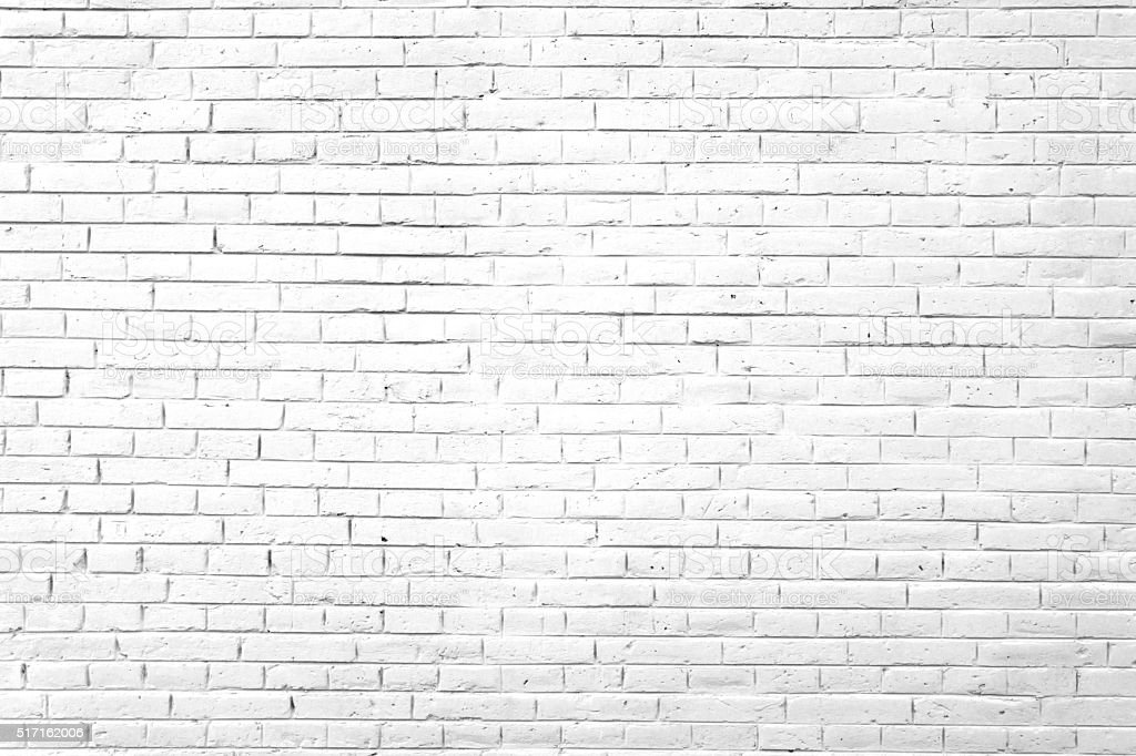 White Brick Wall Background​​​ foto