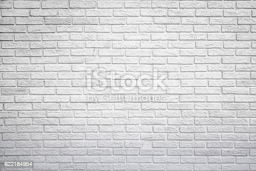 White reflection brick wall background