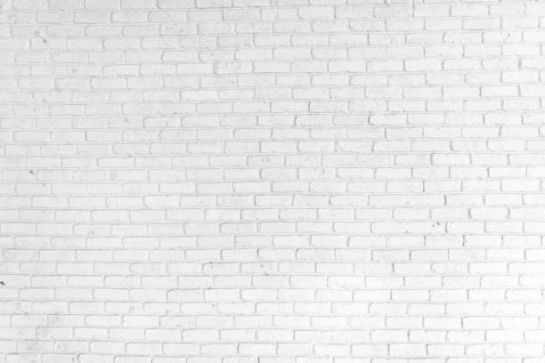 white brick wall background - wall foto e immagini stock