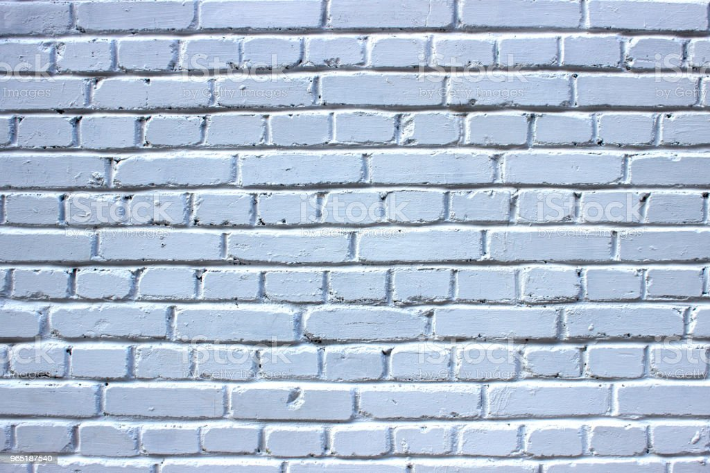 White brick wall. Background. Texture. zbiór zdjęć royalty-free