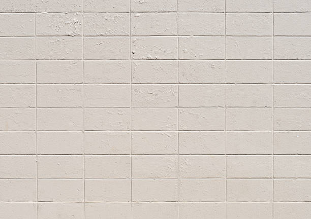 white brick wall hintergrund-xxxl-foto - betonblock wände stock-fotos und bilder