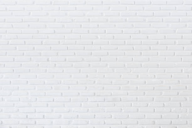 White brick wall for background and textured, White wall background stock photo