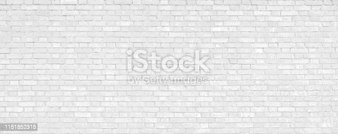 White Brick Wall Texture Background. White urban Wallpaper interior