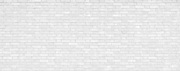 흰색 벽돌 벽 현대 배경입니다. - 벽돌 담 뉴스 사진 이미지