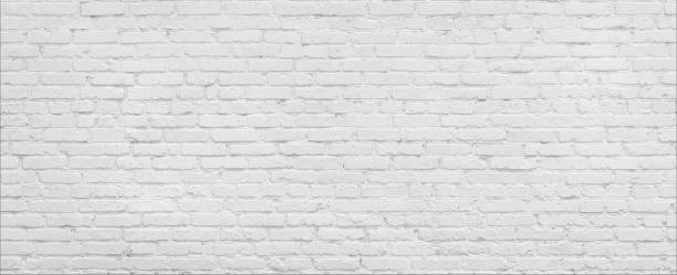 White brick Wall panorama. White brick wall high resolution panorama. Home and office modern design backdrop whitewashed stock pictures, royalty-free photos & images