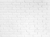 White brick wall pattern backgroundc