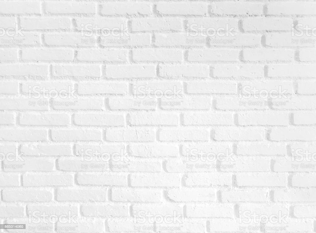White brick wall pattern background stock photo