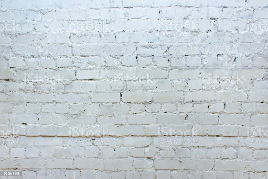 White brick wall, perfect as a background stock photo
